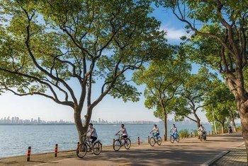 中国武汉市东湖绿道。