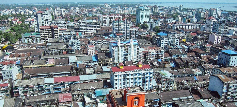 Cidade de Rangum, em Mianmar, onde os militares tomaram o poder