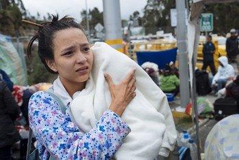 Una madre venezolana de 21 años migra sola con su hijo de 3 meses.