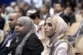 Women attending an event organized by Saudi Arabia at the UN in Rome, Italy. (2019)