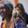 La Directrice exécutive d'ONUSIDA, Winne Byanyima.