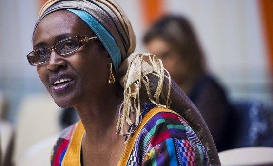 A diretora-executiva do Unaids, Winnie Byanyima.