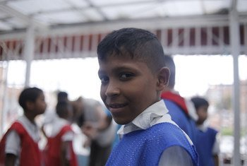 A student at El Carmen school in Barrio Union, on the outskirts of Caracas, is located in one of the largest and most vulnerable neighborhoods in Latin America, where the current crisis in Venezuela threatens to roll back decades of progress. (June 2019)