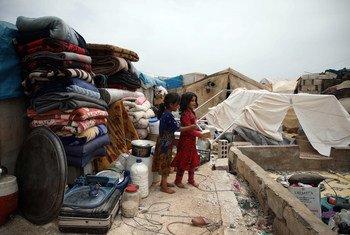 Watoto walioyakimbia mapigano mjini Idlib Syria