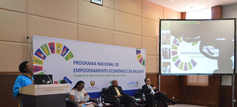 Lançamento do programa Promulher que incentiva o apoio a mulheres de Moçambique.