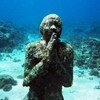 An underwater sculpture at Molinere Bay, in the Marine Protected Area of Grenada.