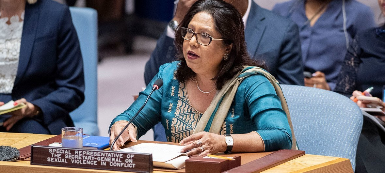 Representante especial do secretário-geral da ONU sobre Violência Sexual em Conflito, Pramila Patten.