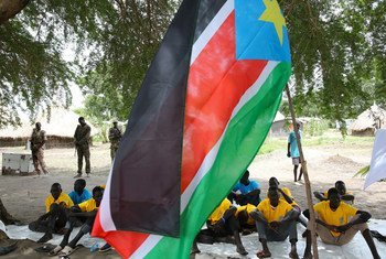Child Soldiers are released in South Sudan in July 2019 as the country's efforts towards peace continue.