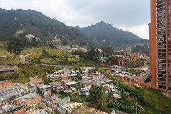 City view of Bogotá, Colombia. (11 January 2016)