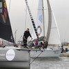 स्वीडन की 16 वर्षीय क्लाइमेट एक्टिविस्ट - ग्रेटा थनबर्ग. उनका काफ़िला 28 अगस्त 2019 को न्यूयॉर्क पहुँचा जिसमें 17 टिकाऊ विकास लक्ष्यों को दिखाने वाली 17 नावें शामिल थीं.