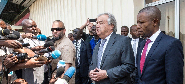 Guterres habla con periodistas en Goma, República Democrática del Congo