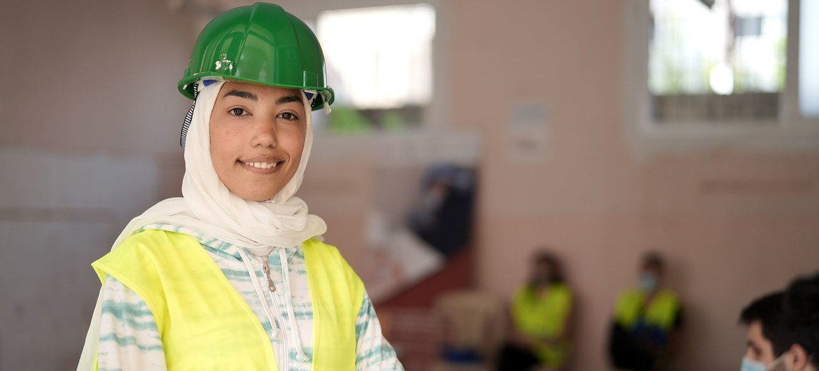 Twenty-three-year-old Rafah is 1  of hundreds of young Lebanese who participated successful  the clean-up and rehabilitation of Beirut.