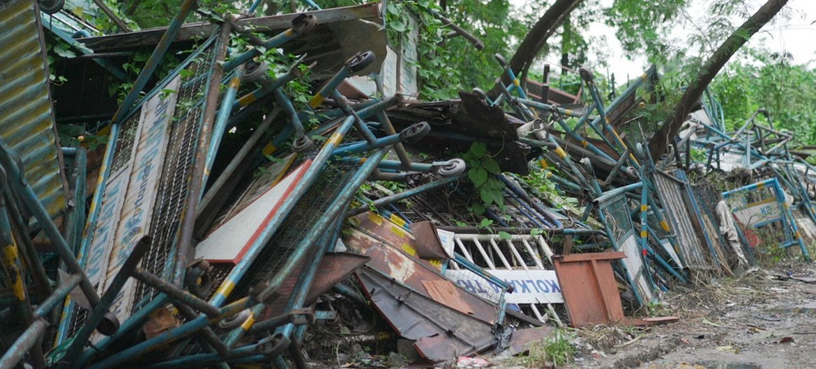 Cyclone Amphan, struck the border region of India and Bangladesh in May 2020 causing widespread destruction.