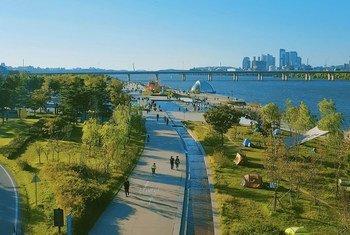 Los cierres relacionados con el COVID llevaron el aire más limpio a muchas ciudades, como Seúl en Corea del Sur.