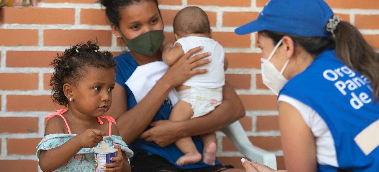 कोलम्बिया में शरण स्थलों में रह रहे वेनेज़्वेला के नागरिकों को कोविड-19 के दौरान सहायता प्रदान की गई.