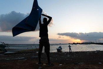 Des migrants éthiopiens à Obock, à Djibouti.