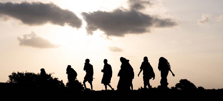 Ethiopian migrants cross the deserts of Djibouti.