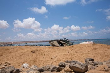 Migrants who survived the capsizing of a smugglers boat in the Gulf of Aden were brought ashore in Obock in Djibouti.