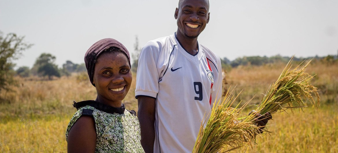 Workshops in villages in Tanzania brought local farmers together to discuss inclusive agriculture and sustainability.
