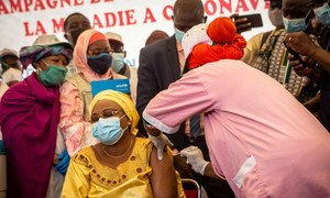 Mali begins its vaccination programme against COVID-19 with Fanta Siby, Minister for Health, the first to be inoculated.