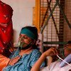 COVID-19 patients receive oxygen at a place of worship in Ghaziabad, India.