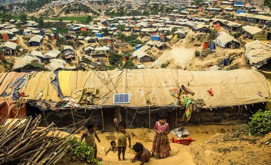 Kutupalong refugee camp in Cox's Bazar, Bangladesh, is one of the largest in the world. and hosts hundreds of thousands of Rohingyas who fled violence in Myanmar.