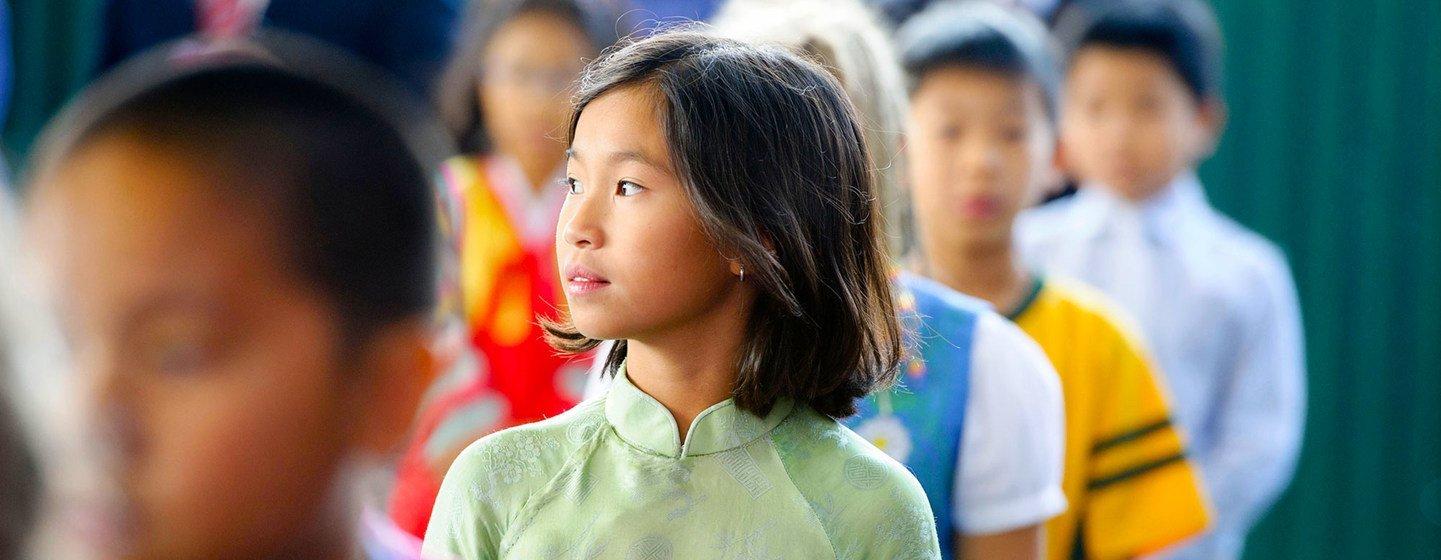Школьники в Ханое, Вьетнам.