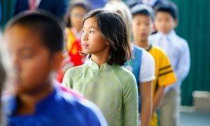 Students at a school in Hanoi Viet Nam.