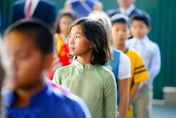 Wanafunzi wakiwa shuleni huko Hanoi, nchini Viet Nam.