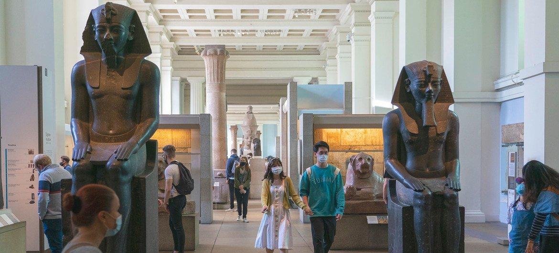 El Museo Británico de Londres reabrió este verano boreal con restricciones debido a la pandemia de COVID-19.