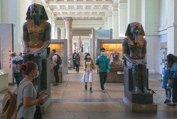伦敦大英博物馆2021年夏季重新开放,新冠限制措施仍然生效。