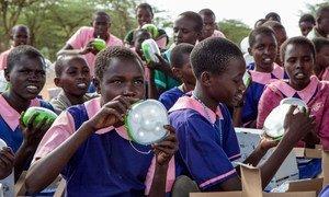 肯尼亚农村地区的儿童用上了太阳能灯具。