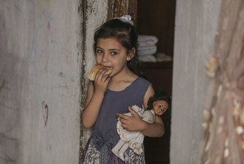 The World Food Programme provides poor and food insecure families in Gaza with electronic food vouchers which give them access to local products (file photo).