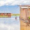 Une école de la province de Bujumbura Rural est incapable de dispenser des cours sur son campus inondé.