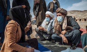 A ONU tem ajudado as famílias de deslocados internos no Afeganistão