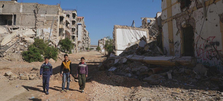 Destruição em Bengazi, na Líbia. Conflito está em vigor desde 2016.
