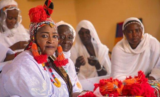 """Муна Авата, председатель малийской общественной организации """"Женщины за мир"""", - одна из героинь фотовыставки, открывшейся в Нью-Йорке."""