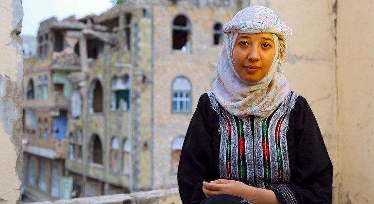 Ola al-Aghbary é a fundadora da Fundação para o Desenvolvimento da Juventude Sheba, que se concentra no empoderamento de jovens e mulheres no Iêmen