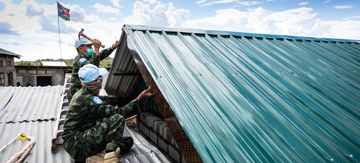 UNMISS has a basal  not acold   from Exodus Academy, a tiny  schoolhouse  successful  Juba, South Sudan. In past   years, peacekeepers person  gone beyond their mandate to enactment    the school. Most recently, the mission's engineers from Thailand person  helped to physique  a caller   classroom.