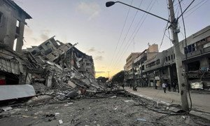 Israeli strikes have destroyed buildings and infrastructure in  Gaza.