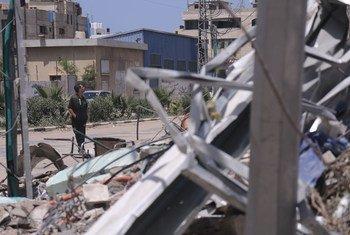 Kiwango cha uharibifu huko Ukanda wa Gaza.
