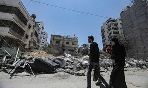 تضرر جزء كبير من مدينة غزة نتيجة الضربات الجوية الإسرائيلية.