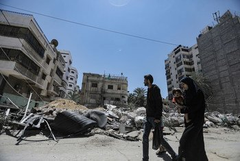 Much of Gaza City has been damaged as a result of Israeli air strikes.