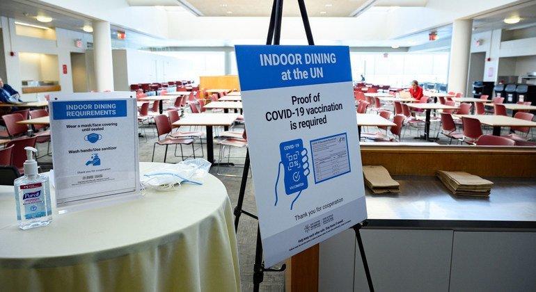 यूएन महासभा के वार्षिक सत्र के दौरान कोविड-19 से बचाव के ऐहतियाती उपायों का ख़याल रखा जा रहा है.