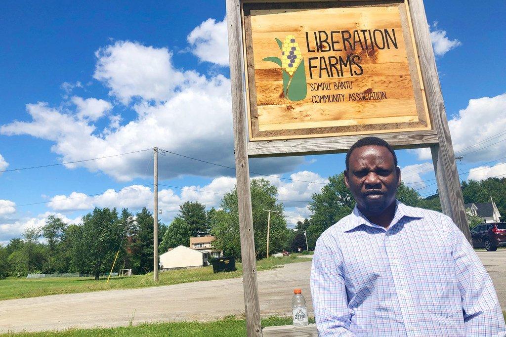 Muhidin Libah set up the Somali Bantu Community Association in Lewiston, Maine.