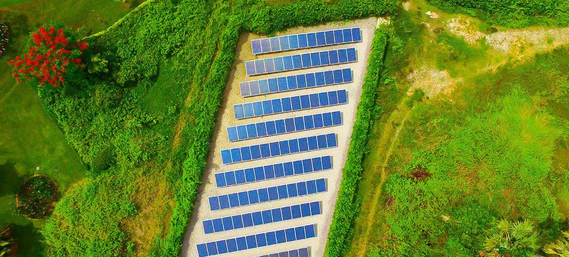 Solar panels are being used in Cambodia to help meet the country's demand for energy .
