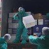 UNICEF entrega un cargamento de suministros de salud para proteger del coronavirus a niños vulnerables en Quito, Ecuador