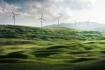 La energía limpia, como la eólica, es un elamento clave para alcanzar las cero emisiones de gases de efecto invernadero.