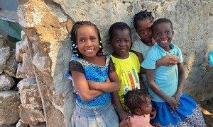 Crianças deslocadas em Cabo Delgado, Moçambique
