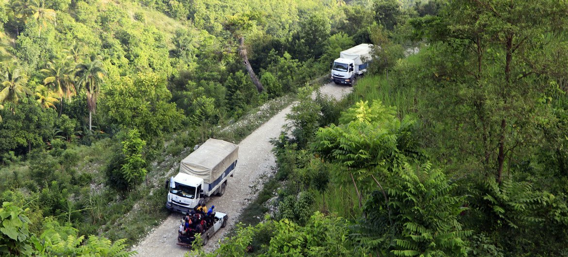 The UN's World Food Programme is stepping up   the transportation  of nutrient  assistance   to radical   impacted by the earthquake successful  Haiti.